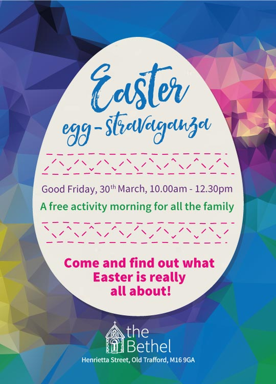 Easter Eggstravaganza - a free activity morning for all the family - Good Friday, 10:00am until 12:30pm